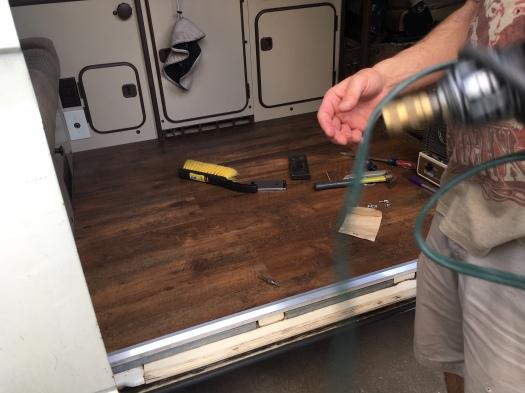 installing metal trim